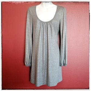 Trina Turk LA Metallic Grey Shift Dress Sz 6